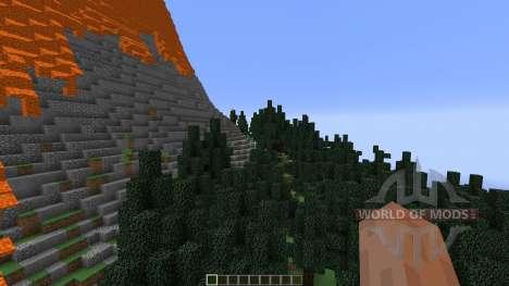 The Erupting Volcano Survival Map для Minecraft