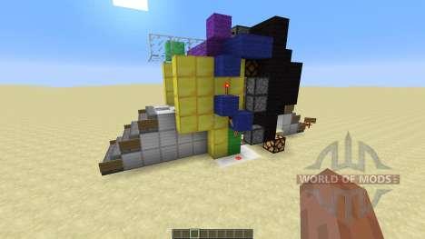 3 X 3 Piston door для Minecraft