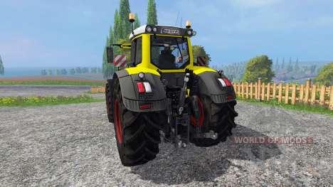 Fendt 936 Vario yellow bull для Farming Simulator 2015