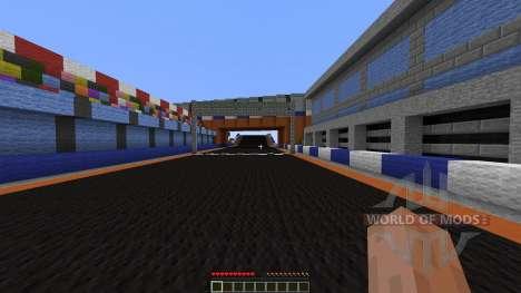 Mario Kart figure 8 circuit для Minecraft
