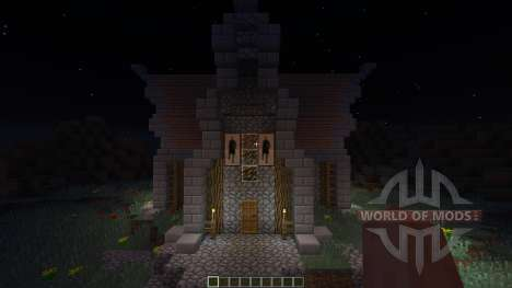 Medevial house для Minecraft