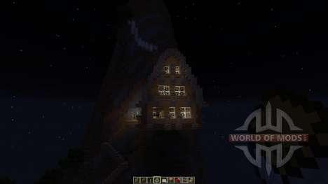 Medieval Mountain House для Minecraft