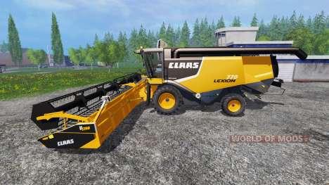 CLAAS Lexion 770 для Farming Simulator 2015