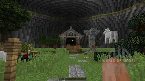 Big Closed Arena in a Dome with souterrains для Minecraft