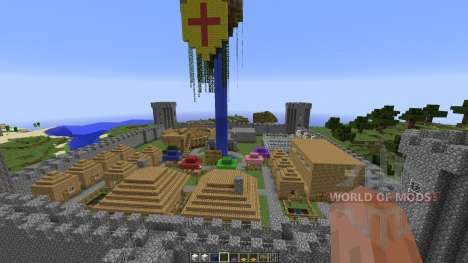 Small Giant Castle Water Base для Minecraft
