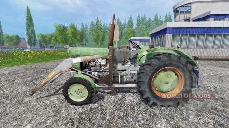Ursus C-4011 with front loader для Farming Simulator 2015