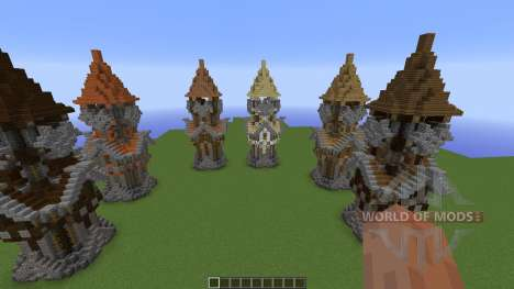 Medieval Tower Assorted Wood Variants для Minecraft