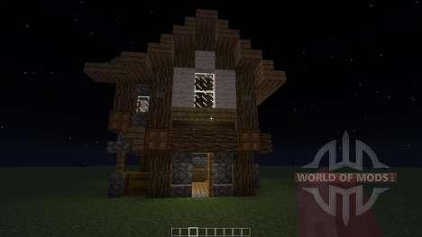 Small Medieval House для Minecraft