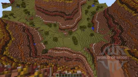Mesa Savannah Canyons для Minecraft