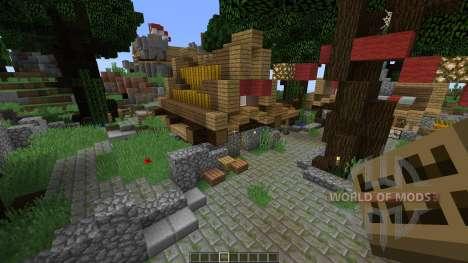 Medieval town для Minecraft