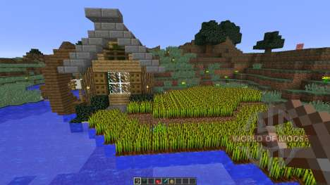 Bee Builds House on the Lake для Minecraft