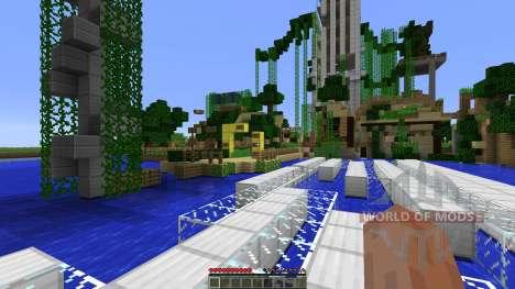 Dead town with parkour zones для Minecraft