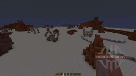 Star Wars Geonosis map для Minecraft