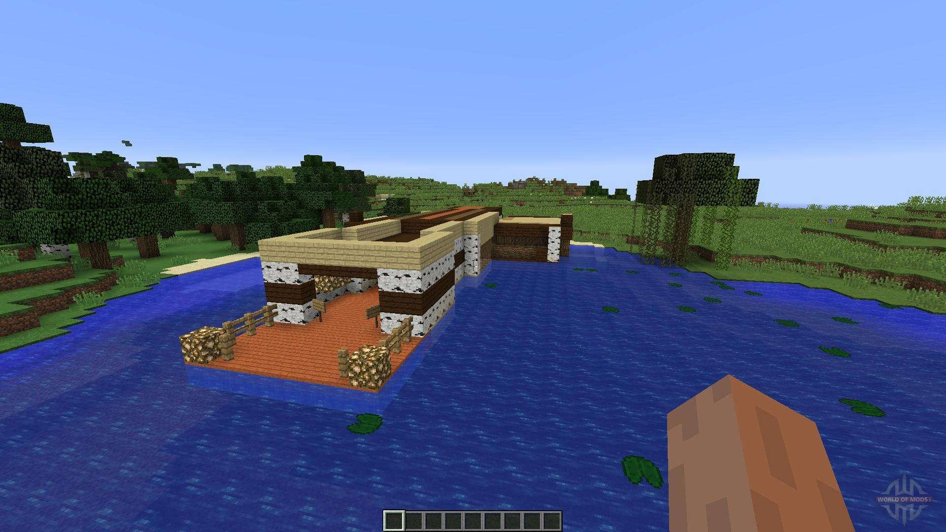 minecraft fishing house - HD1920×1080
