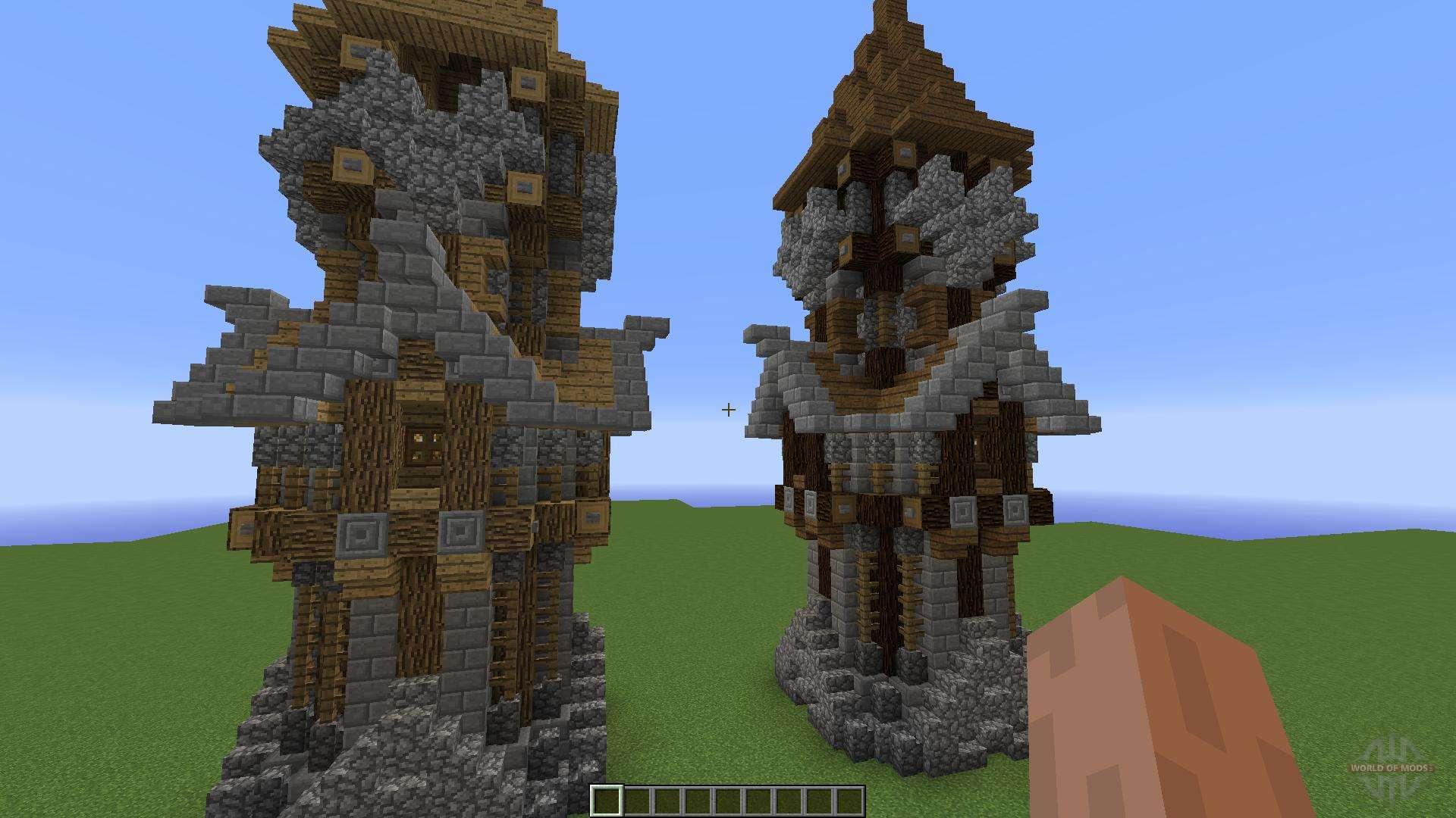 Башни в майнкрафт фото