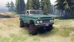 Chevrolet С-10 1966 Custom two tone tropic для Spin Tires