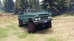 Chevrolet С-10 1966 Custom tropic turquoise для Spin Tires