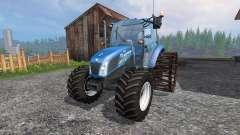 New Holland T4.75 v2.0 с железными колёсами
