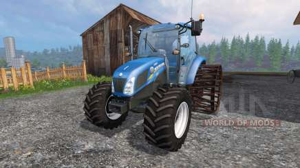 New Holland T4.75 v2.0 с железными колёсами для Farming Simulator 2015