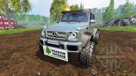 Mercedes-Benz G65 AMG 6x6 [passion paysage] для Farming Simulator 2015