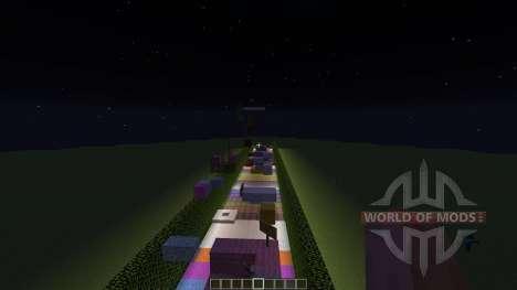 Rainbow Parkour для Minecraft