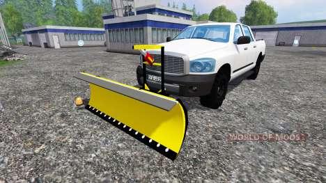 Dodge Pickup [snowplow] для Farming Simulator 2015