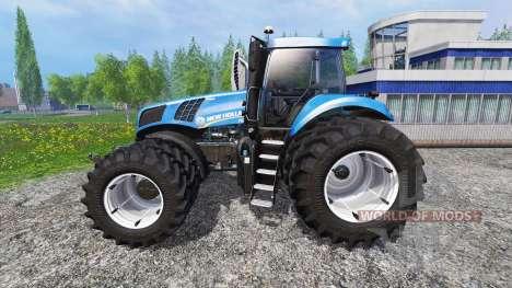 New Holland T8.435 DuelWheel v4.0.1 для Farming Simulator 2015