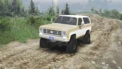 Chevrolet K5 Blazer 1975 [light saddle n white] для Spin Tires