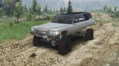 Cadillac Hearse 1975 [monster] [gray] для Spin Tires