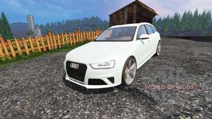 Audi RS4 Avant v1.1 для Farming Simulator 2015