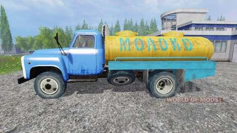 ГАЗ-53 [молоко] для Farming Simulator 2015