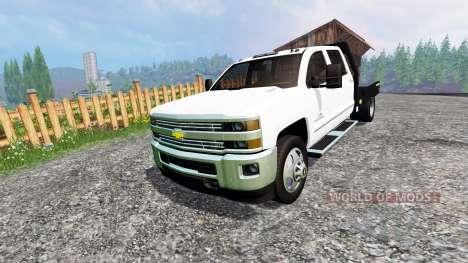 Chevrolet Silverado 3500 [flatbed] для Farming Simulator 2015
