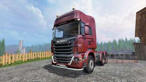 Scania R730 [Topline] v2.0 для Farming Simulator 2015