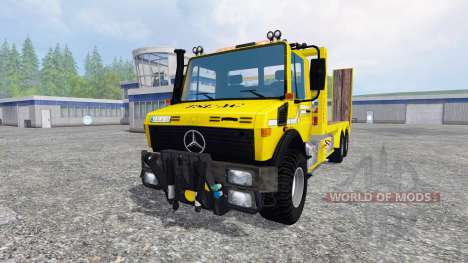 Mercedes-Benz Unimog [cartransporter] для Farming Simulator 2015