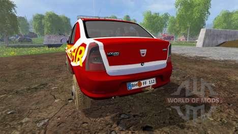 Dacia Logan [feuerwehr] для Farming Simulator 2015