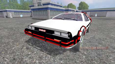 DeLorean DMC-12 Back To The Future для Farming Simulator 2015