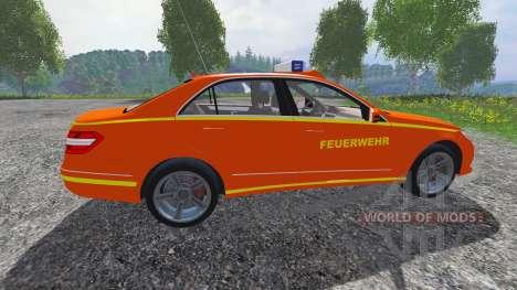 Mercedes-Benz E63 (W212) [feuerwehr] для Farming Simulator 2015