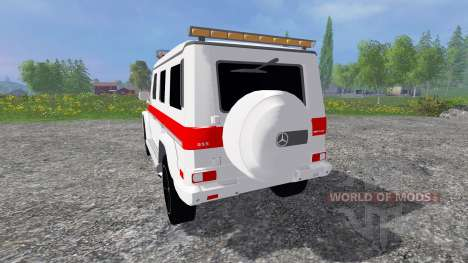 Mercedes-Benz G65 AMG Ambulance для Farming Simulator 2015