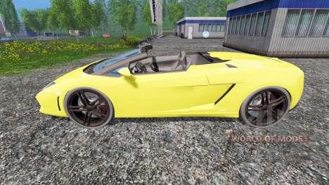 Lamborghini Gallardo Spyder для Farming Simulator 2015