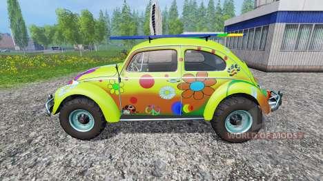 Volkswagen Beetle 1966 [peace and love] для Farming Simulator 2015