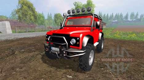 Land Rover Defender 90 [offroad] для Farming Simulator 2015