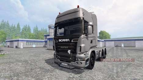 Scania R730 [Silver] v3.0 для Farming Simulator 2015