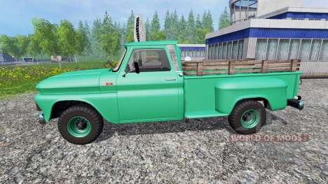 Chevrolet C10 Fleetside 1966 [custom] v1.1 для Farming Simulator 2015