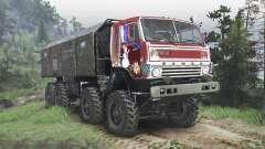 КамАЗ-6350 Мустанг [red][08.11.15] для Spin Tires