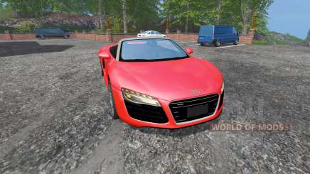 Audi R8 Spyder v1.1 для Farming Simulator 2015