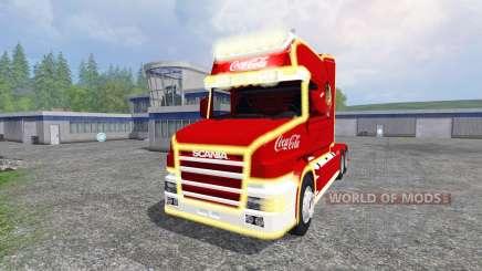 Scania T164 Coca-Cola Christmas для Farming Simulator 2015