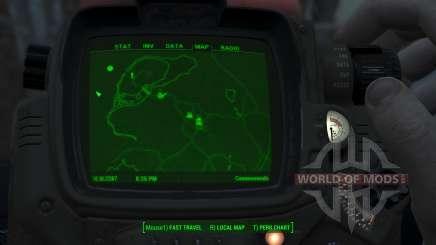 Immersive Map 4k - BLUEPRINT - No Squares для Fallout 4