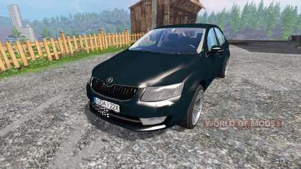 Skoda Octavia III v2.0 для Farming Simulator 2015