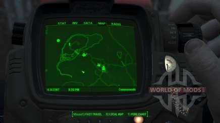 Immersive Map 4k - BLUEPRINT Inv. - No Squares для Fallout 4