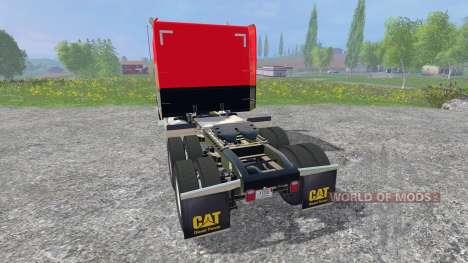 Peterbilt 388 [red and black] для Farming Simulator 2015